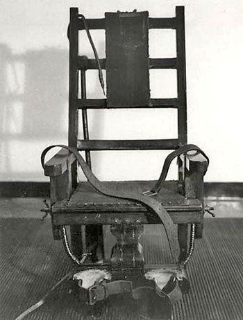 Chaise Electrique Prison De Sing Sing Chaise Electrique Peine De Mort Mobilier Design