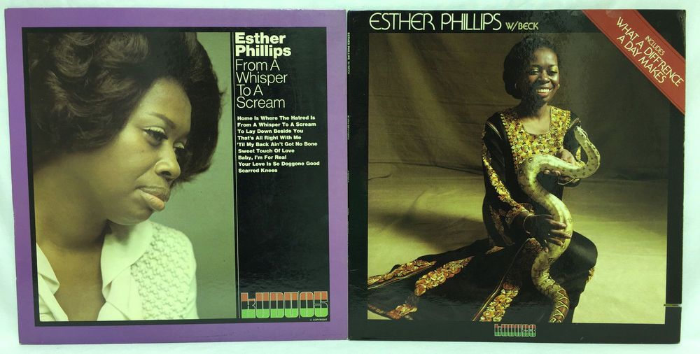 Esther Phillips Lot Of 2 #Vinyl Record Albums W/ Beck