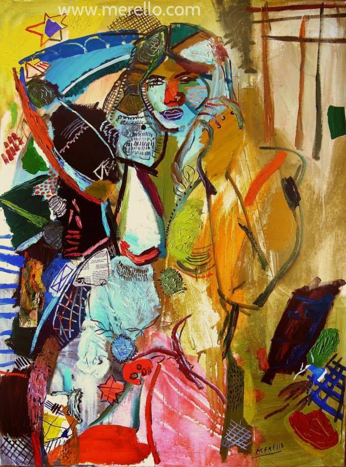 Art contemporain et moderne jos manuel merello mujer for Art contemporain artistes