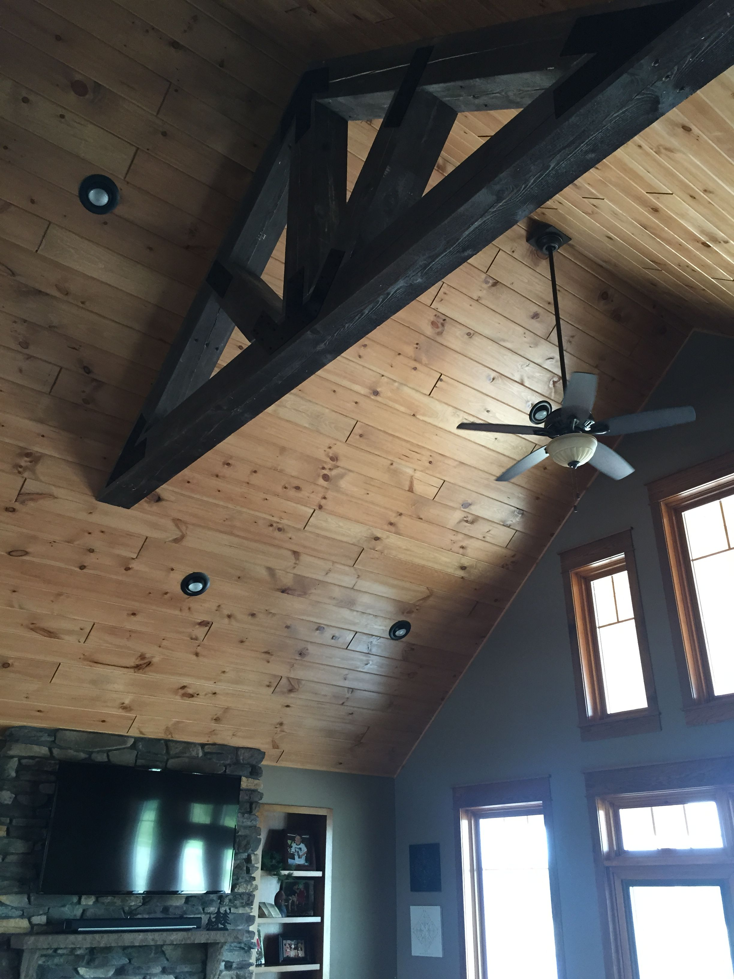 install paneling theteenline planks stained ceilings on put wood how a org ceiling to beadboard
