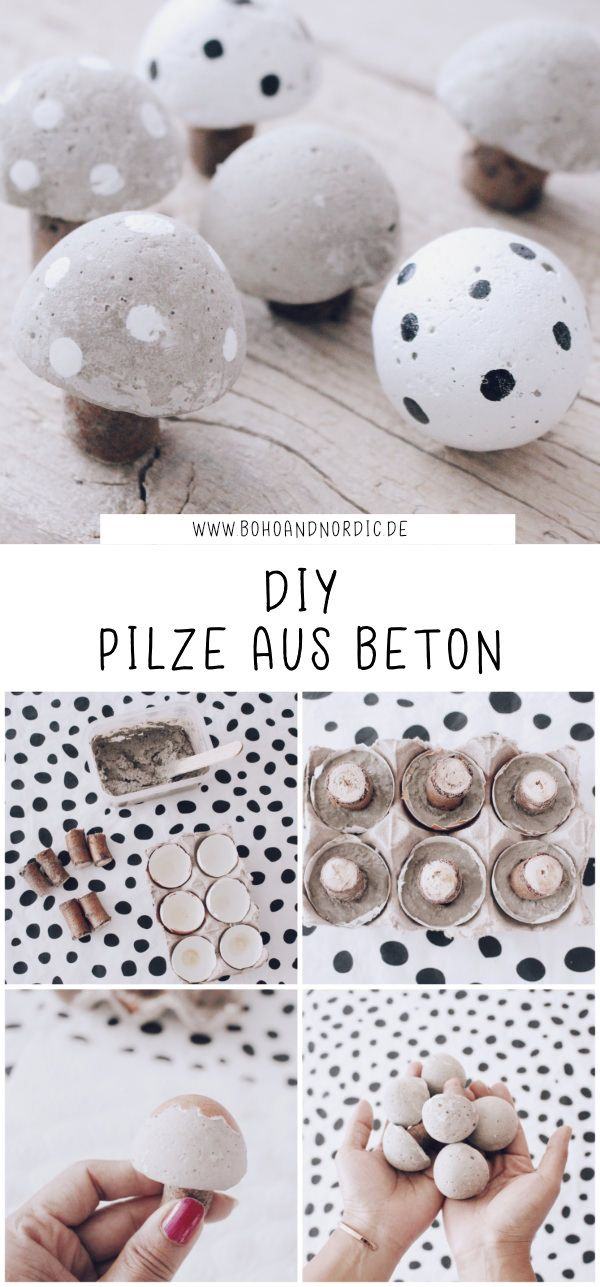 DIY Pilze aus Beton – Pilze mal anders