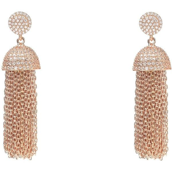 Latelita London Tassel Chain Earring Rose Gold 2tn8h
