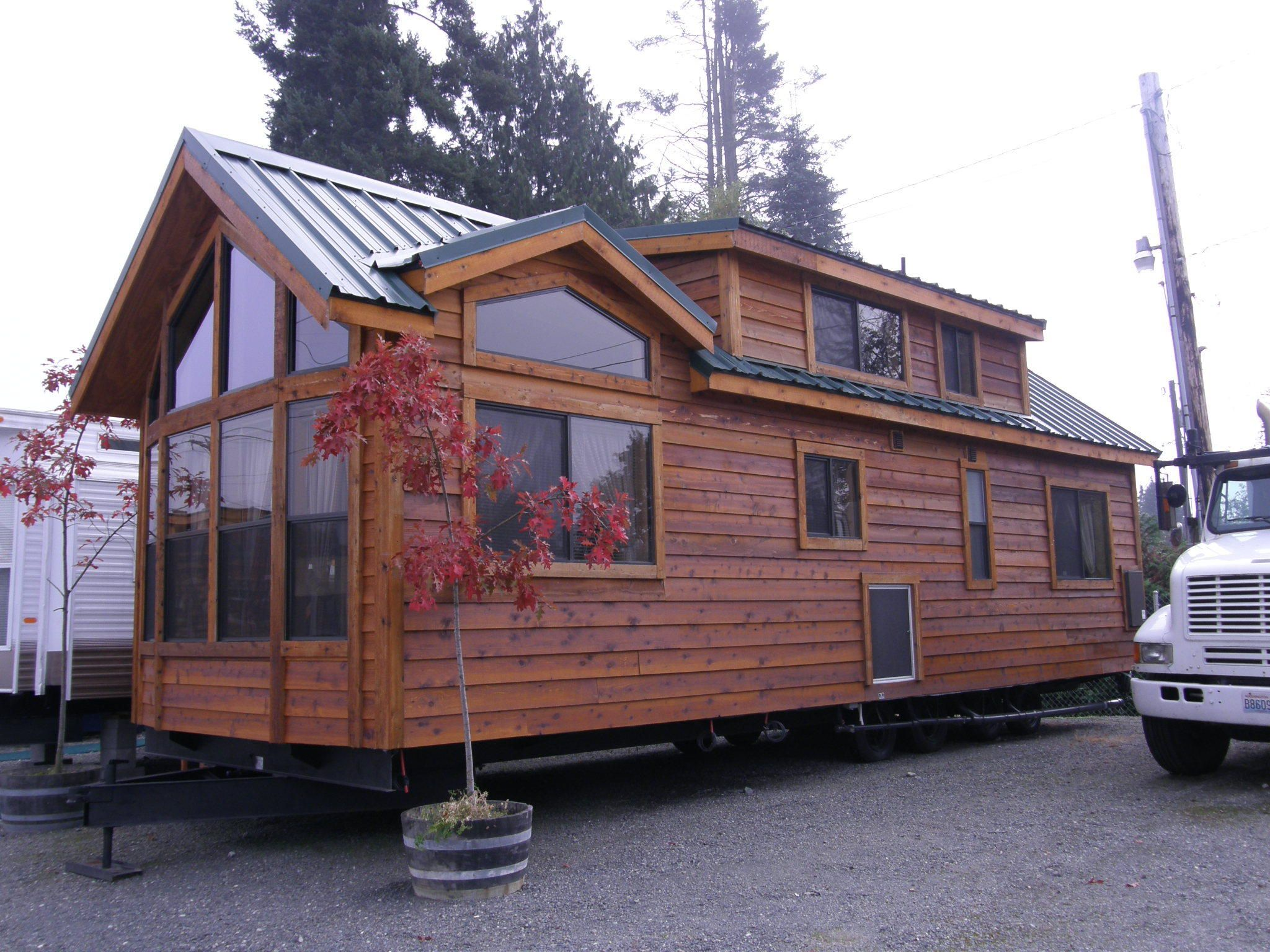 House on wheels for sale visit open big tiny house on for Small house design on wheels