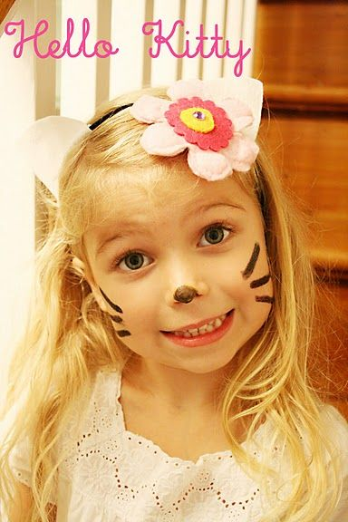 Face paint nose and whiskers on the party guests so they ...