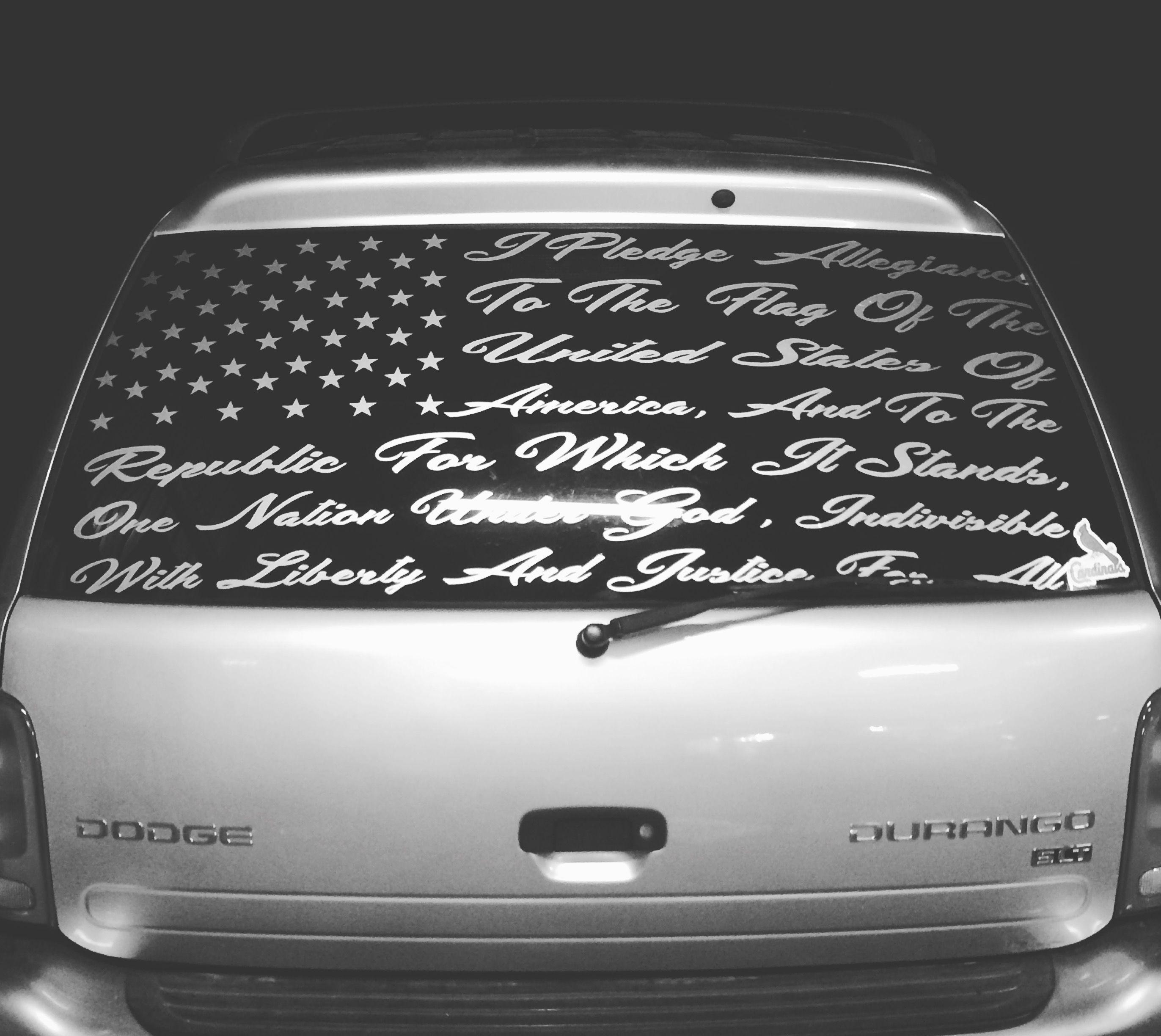 Pledge Of Allegiance Custom Decal 75 By Chris2low Vinyl Vinyl Car Stickers Window Decals Car Vinyls Car Decals Vinyl [ 2448 x 2744 Pixel ]
