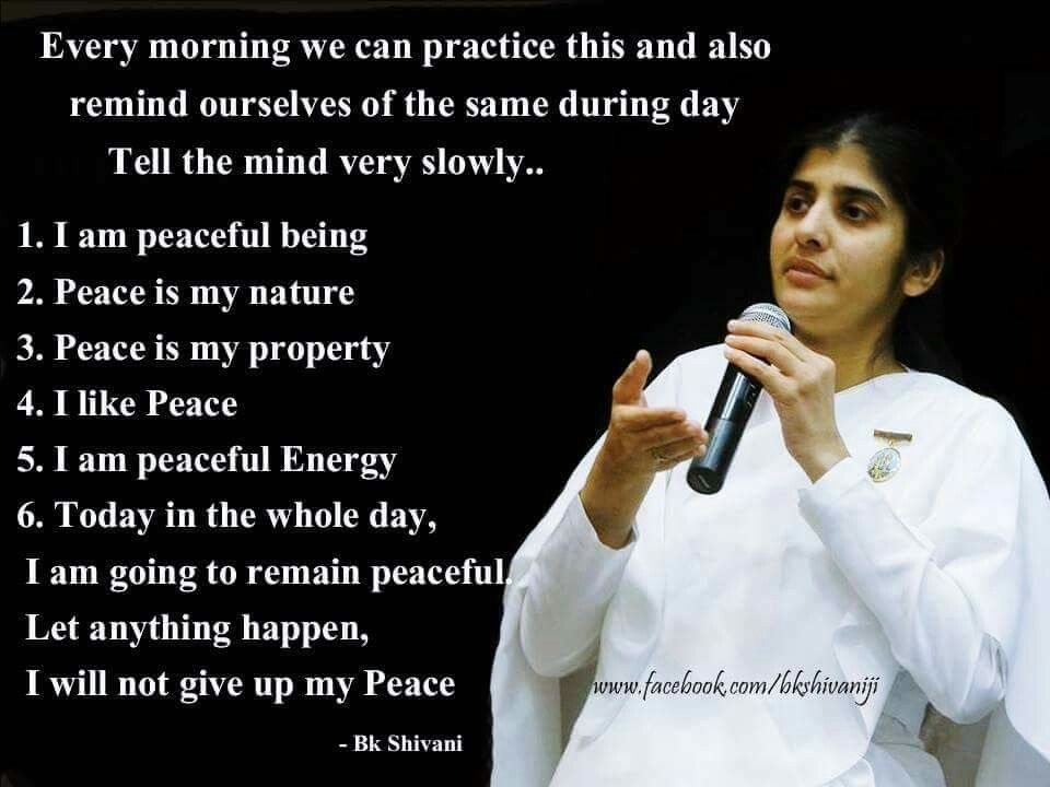 Brahma Kumaris Positive Thinking Quotes: Pin By Radhika Shah On Wisdom Of Sister Shivani