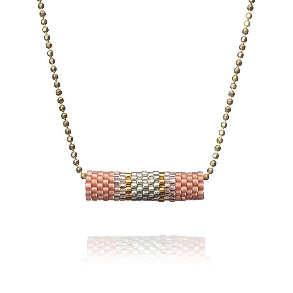 "Molecules necklace style: ""Powder Pink"" by Charm'ed - Handmade necklace #charmed #necklace #rikkehandrecknovod #pearls #jewellery #danishdesign #handmade #smykke #halskæde"