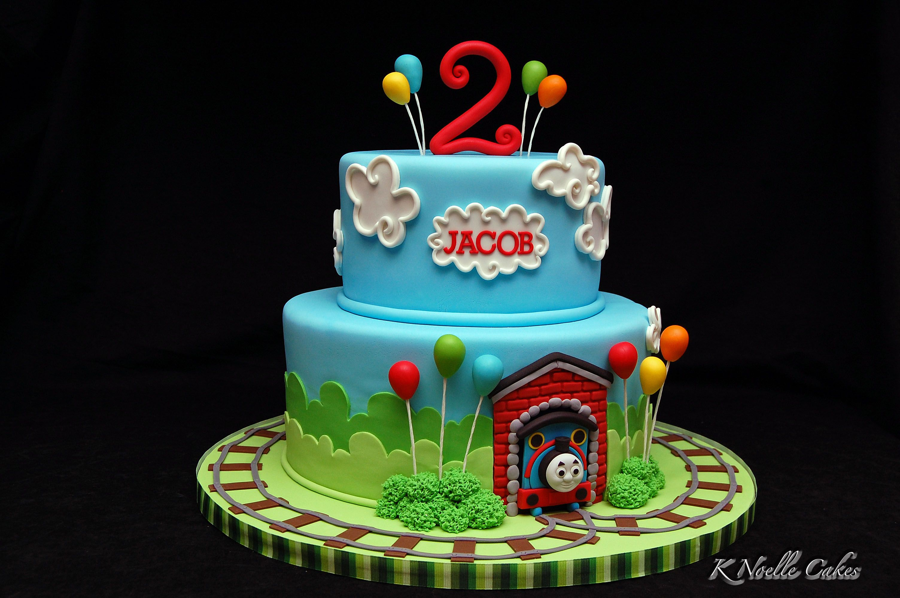 Awesome Thomas The Train Cake By K Noelle Cakes Thomas Birthday Cakes Funny Birthday Cards Online Eattedamsfinfo