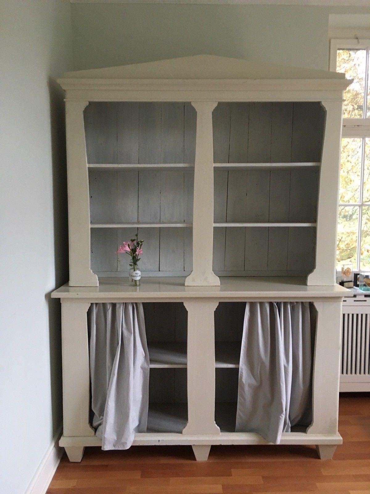 k chenschrank antik sideboard schrank wei gebeizt antiquit ten kunst mobiliar interieur. Black Bedroom Furniture Sets. Home Design Ideas