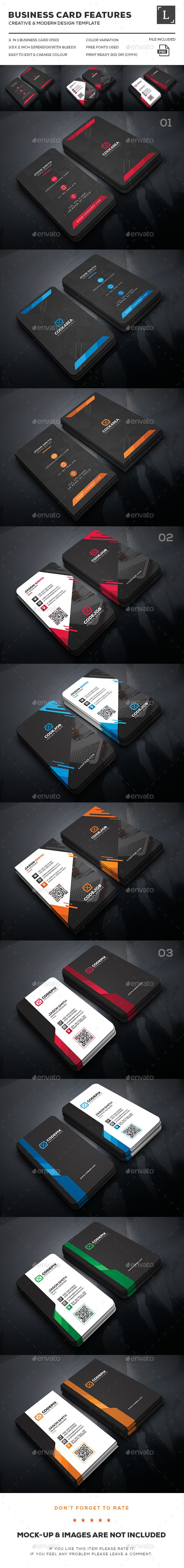 Dark business card bundle pinterest cartes de dark business card bundle templates psd download here reheart Images