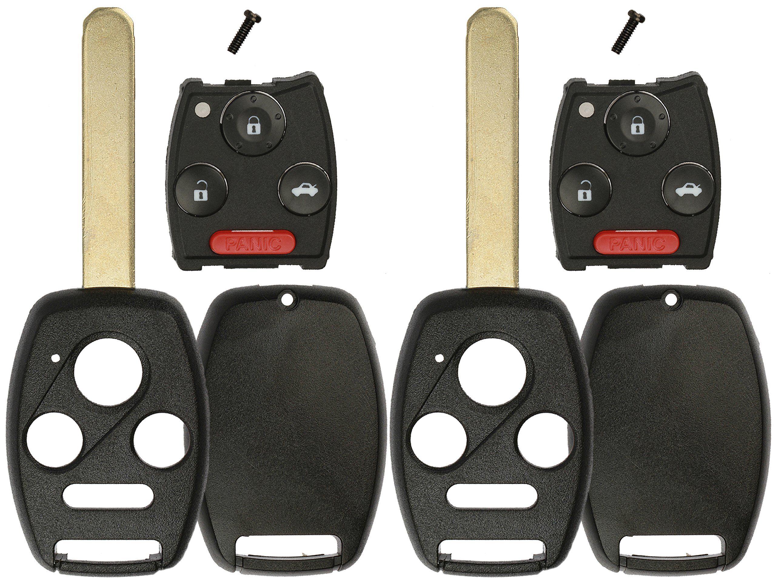 Keylessoption Keyless Remote Uncut Car Key Fob Shell And Button