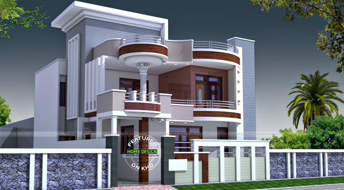 Double Story Building Elevation : Kerala home design at sqft double storey