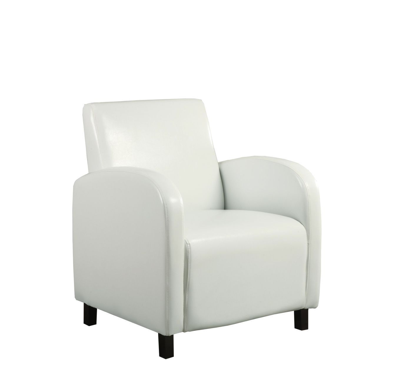 White Leather Look Accent Chair Comfychair Comfy Chairs Small
