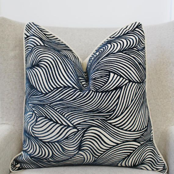 22X22 Pillow Insert New Cowtan Tout Cut Velvet Pillow Cover 20X20 22X22  Dune Navy Cut Design Ideas