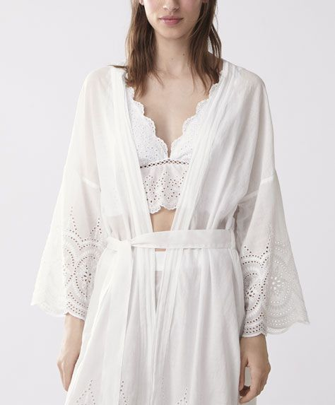 Long sleeve embroidered dressing gown - 5 | Nightwear | Pinterest ...