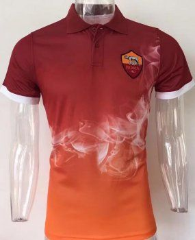 e5589d8cde4ea AS Roma 2017-18 Season Home Red Giallorossi Polo Shirt  K510 ...