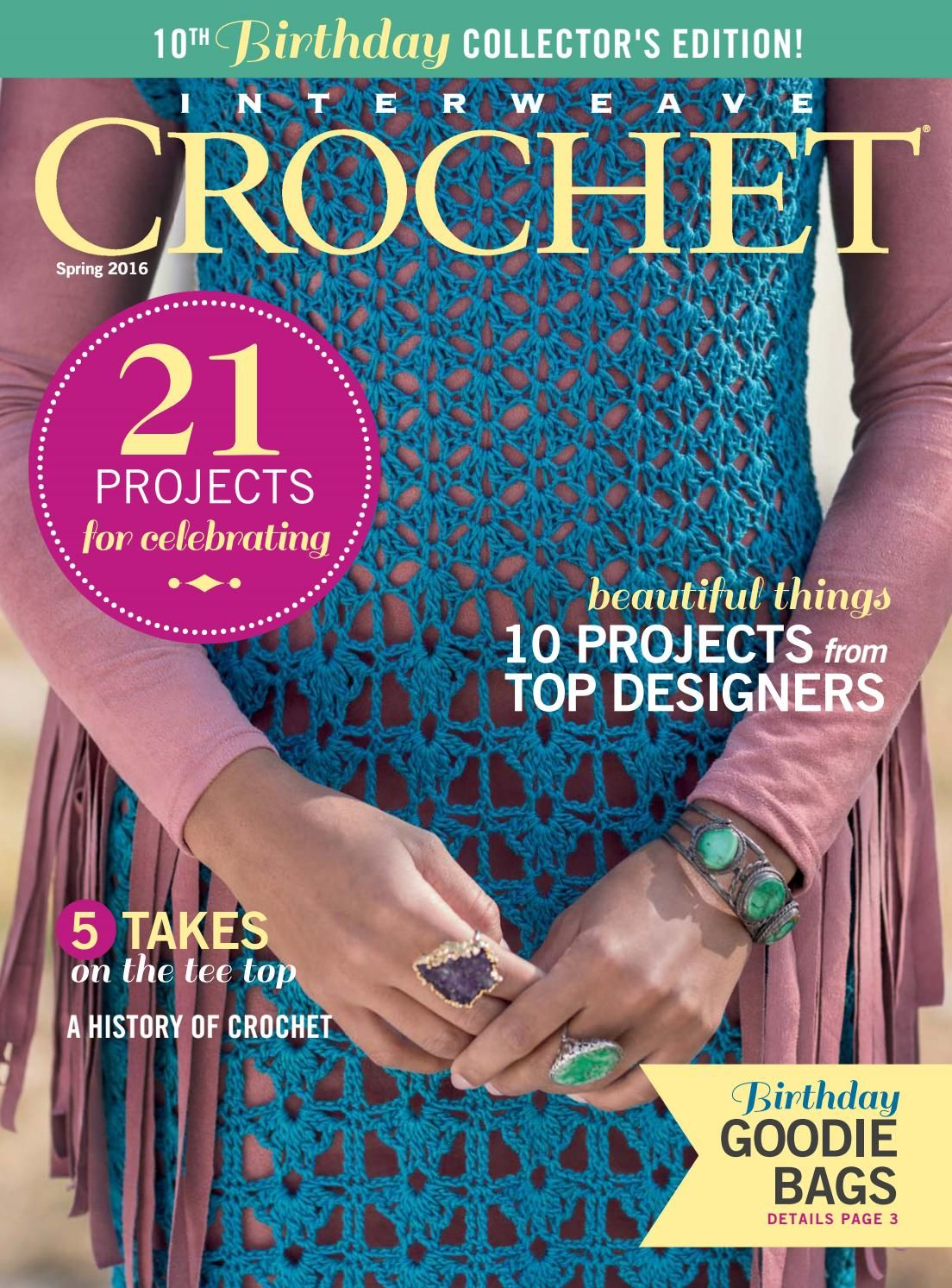 Interweave Crochet Spring 2016 By Lin Hunh Issuu Knit Mags All Shawl Stitch Diagrams Doris Chan Chans New Dress In Our Lotus Yarn Made The Cover Of Magazine