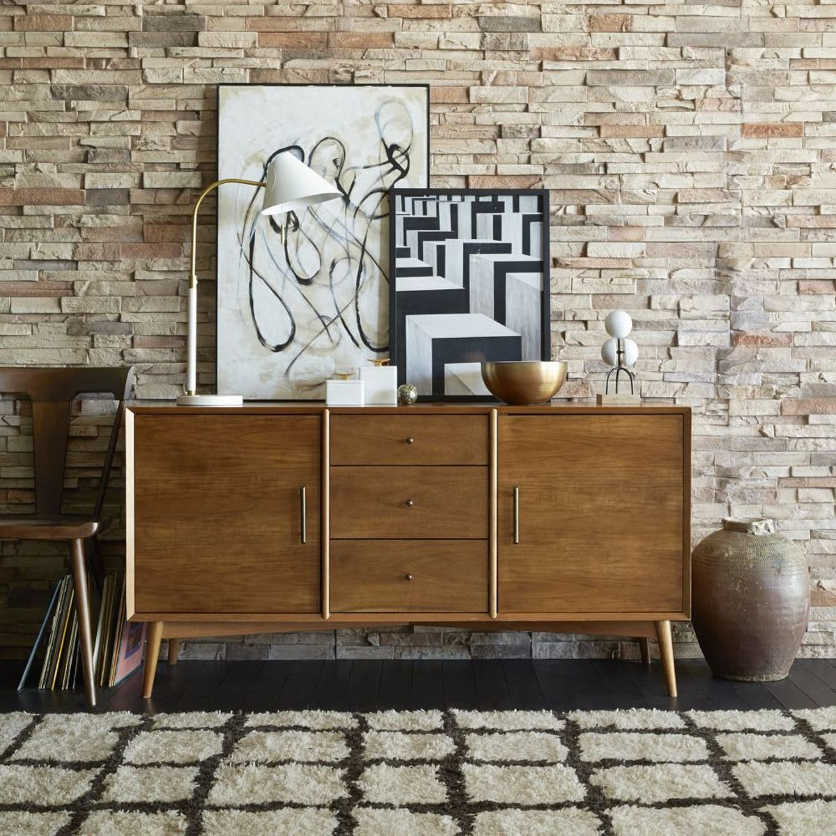 Midcentury sideboard large mid century buffet and consoles