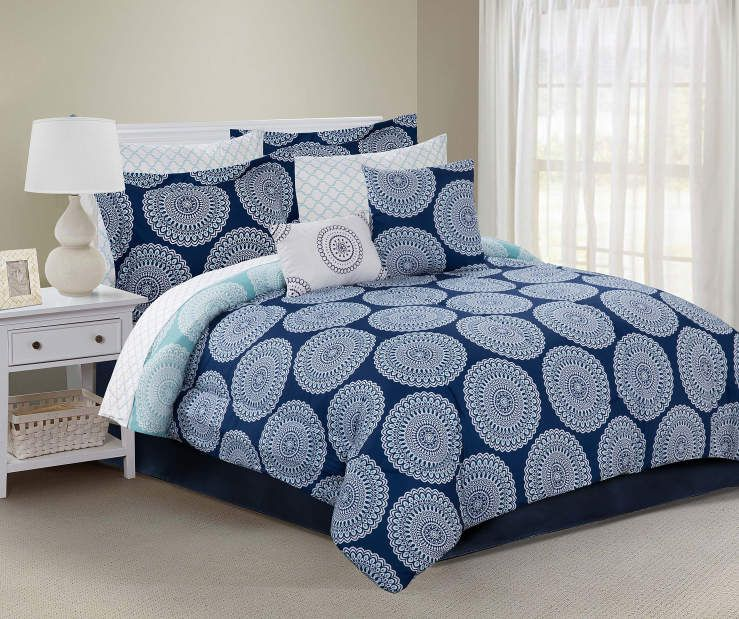 Buy a Just Home Moni 10-Piece Reversible Comforter Sets at Big Lots