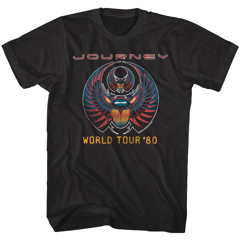 Journey Captured Album World Tour 1980 Men/'s T Shirt Rock Band Concert Merch Top