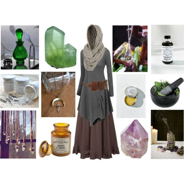 The Healer by maggiehemlock on Polyvore featuring Miss Selfridge Aquarian Soul + Earth Oils ...