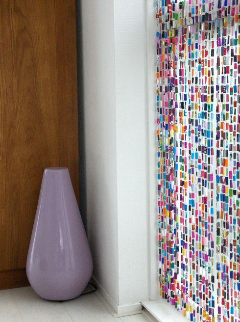 Vliegengordijn Plastic Slierten.Paperclip Vliegengordijn Diy Crafts Diy Curtains Recycled