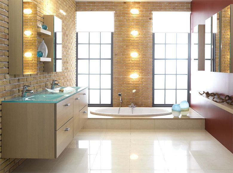 Modern Bright Bathroom Interior Design Ideas With Lighting