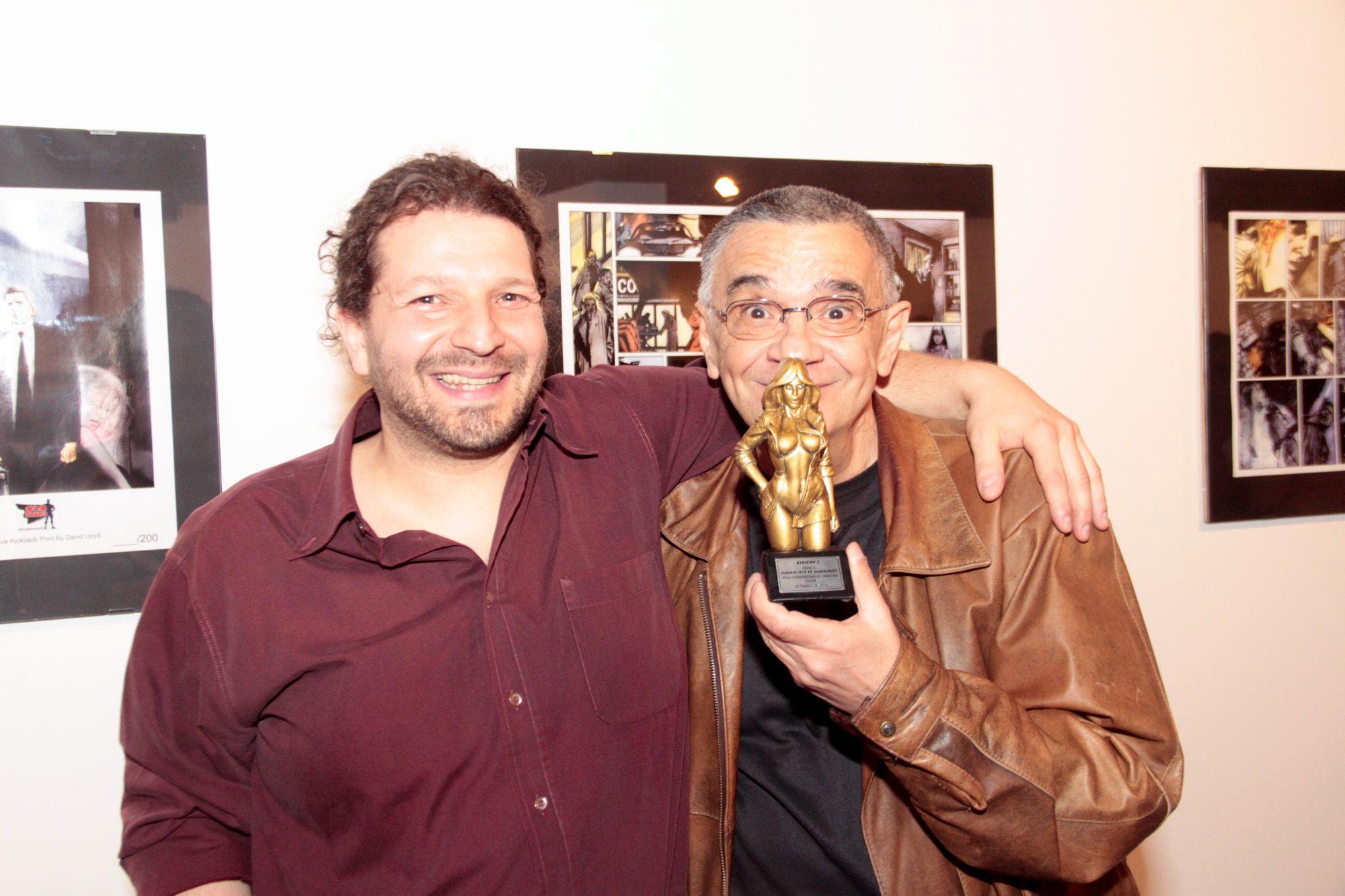 Gibicon 2 - setembro de 2014, abertura. Premio Claudio Seto, homenagem ao Solda.