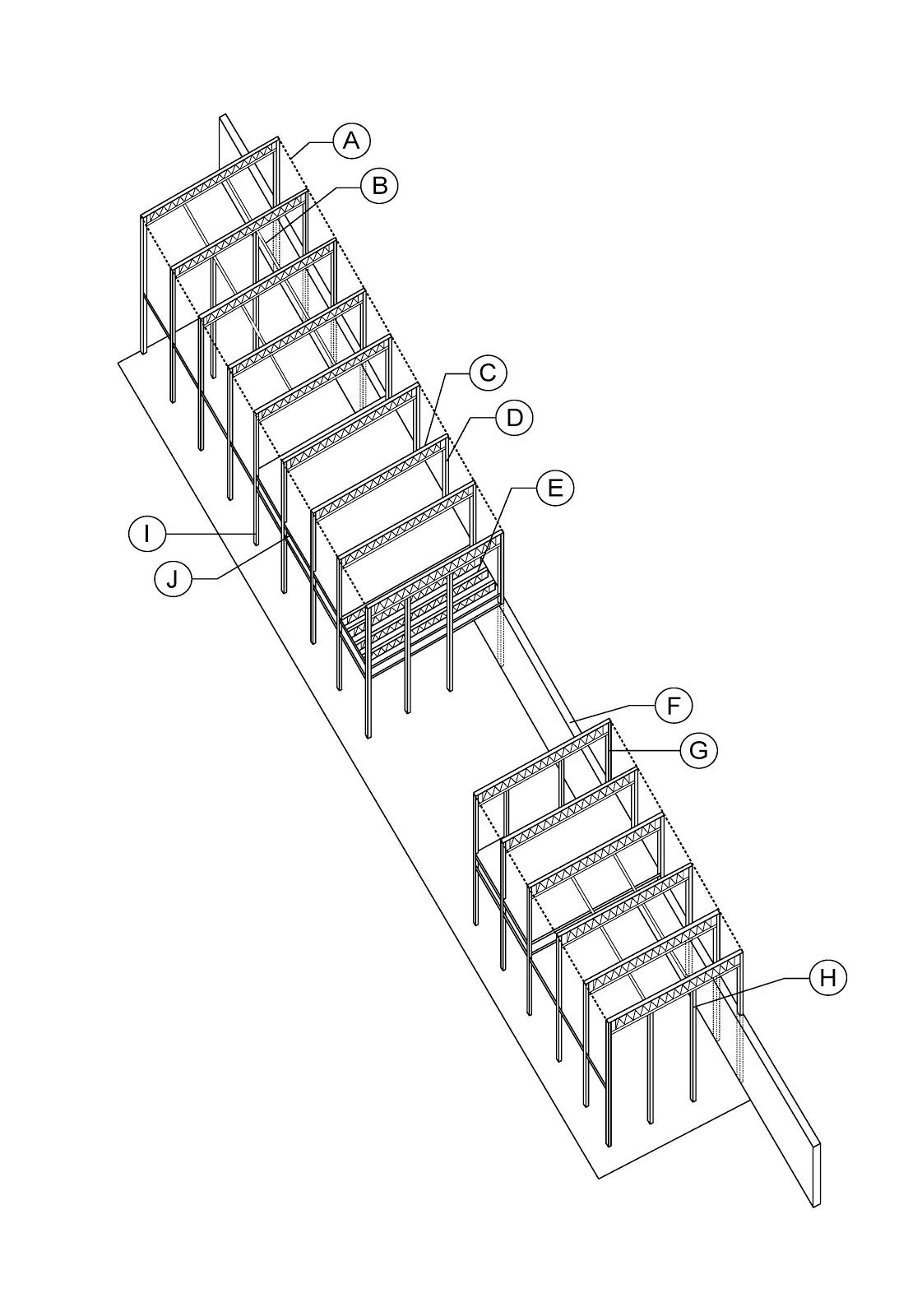 Pleasing Eames House Exploded Axonometric Of Eames House Charles And Ray Largest Home Design Picture Inspirations Pitcheantrous