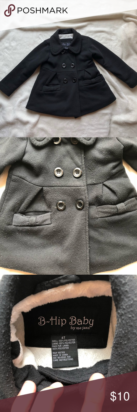 441758143 Girls 4T Pea Coat Used condition
