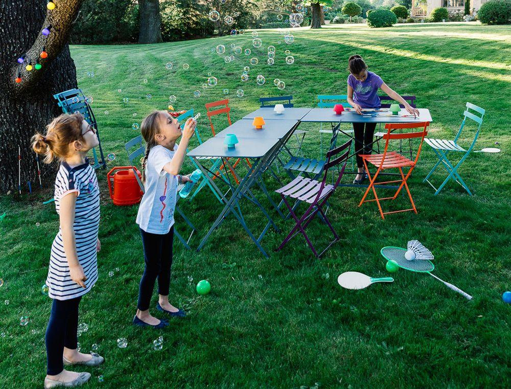 Table Bistro 97x57 cm, table de jardin, table pliante jardin