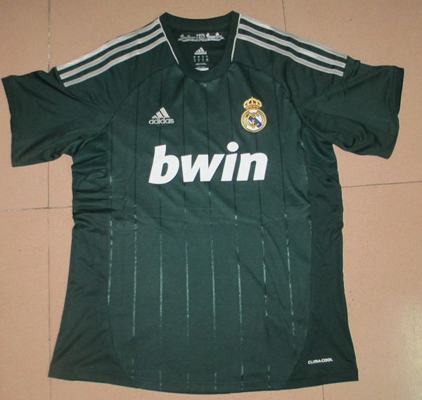 680e6db346e 12-13 Real Madrid Third Away Green Top Thai Quality Soccer Jersey Shirts