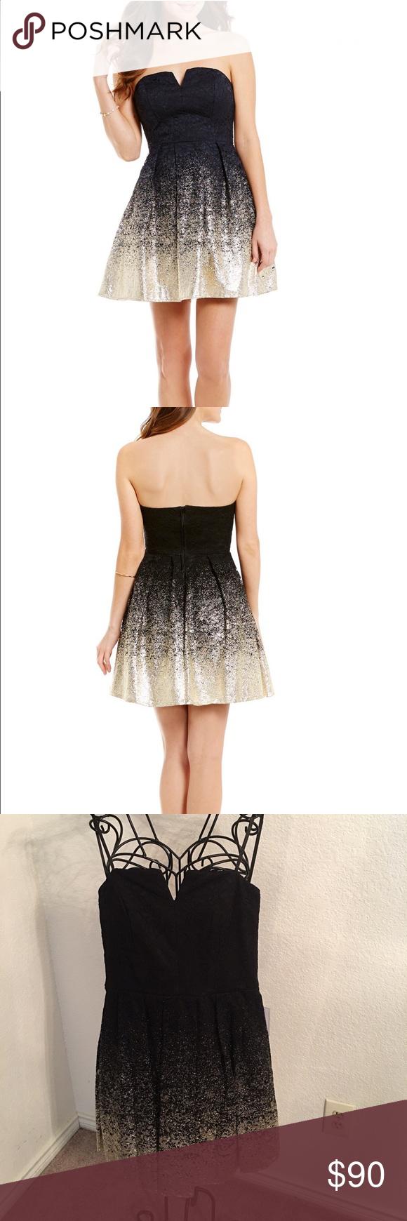 B darlin black lace dress  B Darlin Strapless Black PartyProm Dress NWT  Pinterest  Black