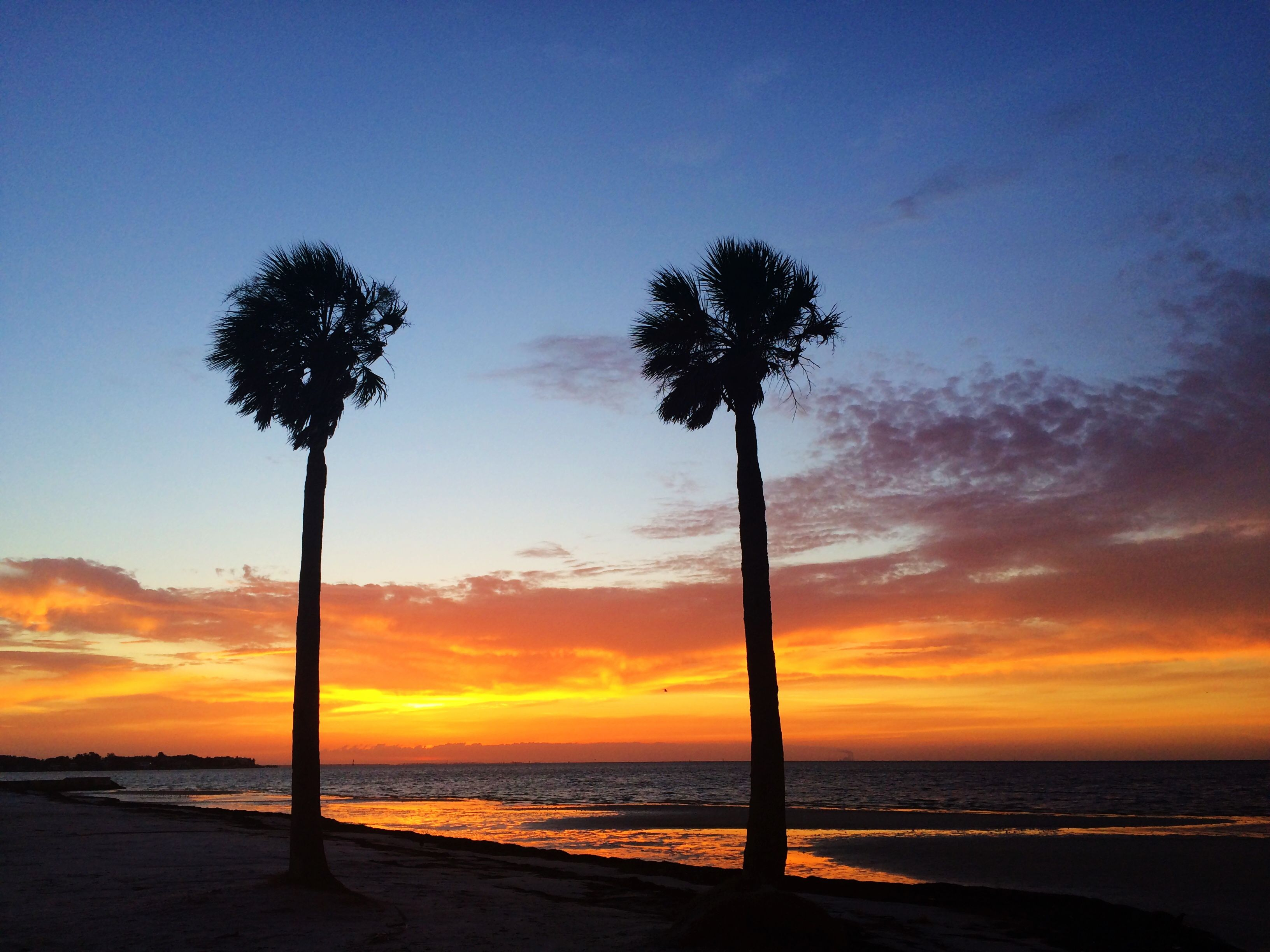 Spectacular sunrise from North Shore Park in St. Pete