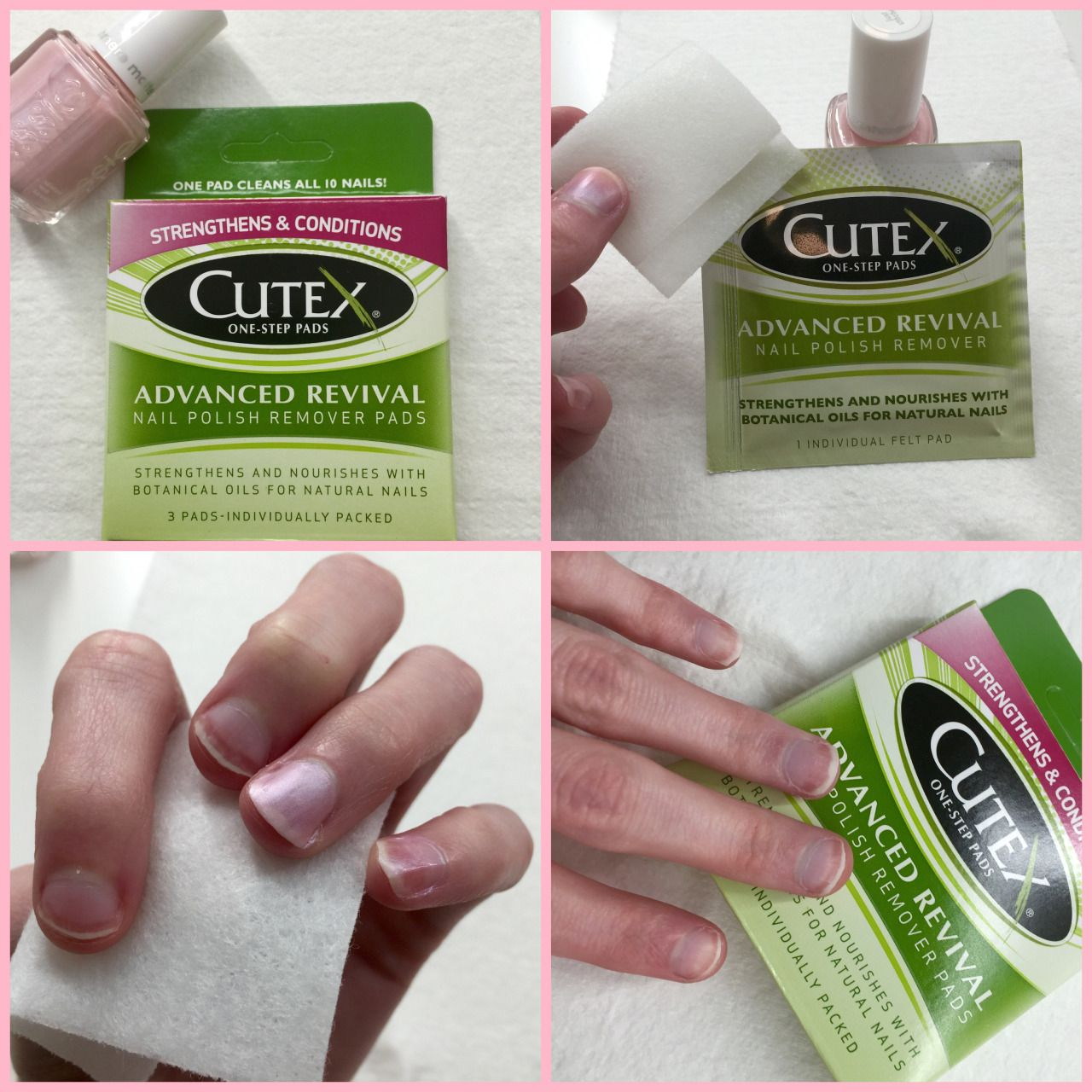These Cutex Nail Polish Remover Pads Were Awesome They Got My Nail Polish Off Super Quickly And Wit Nail Polish Remover Pads Nail Polish Remover Healthy Nails