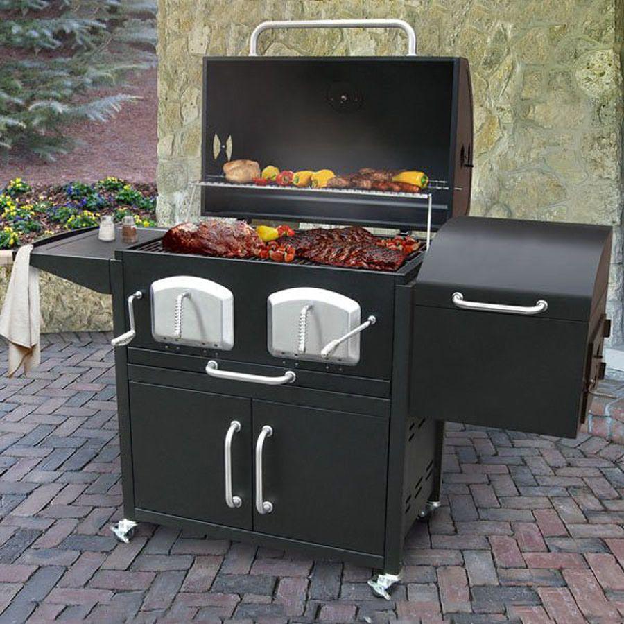 Shop Landmann USA Bravo Premium Barrel Charcoal Grill with Offset ...