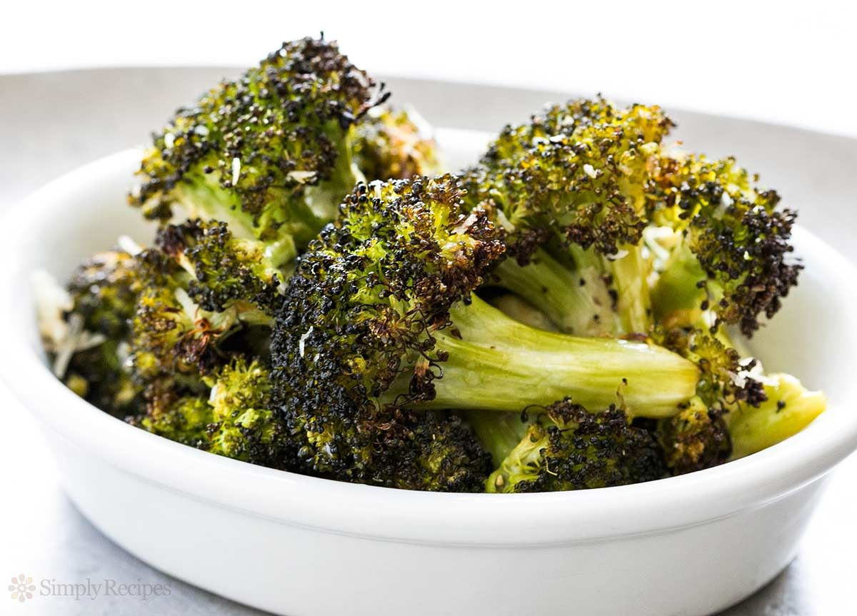 The BEST way to eat broccoli? Roasted! Just toss in olive oil, lemon juice, and salt, roast in oven on high heat, sprinkle with Parmesan and black pepper. So healthy and good. Low carb too! On