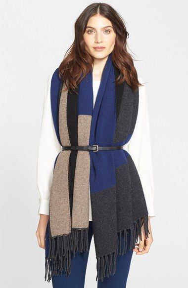 Joie 'Petronille' Colorblock Shawl available at #Nordstrom