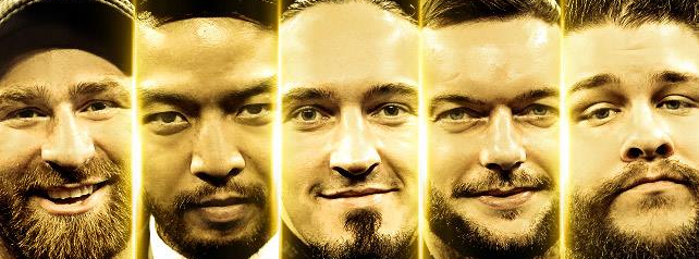 The Future Of The Wwe Sami Zayn Hideo Itami Adrian Neville Finn Balor And Kevin Owens Wwe News Wwe Pictures Wwe