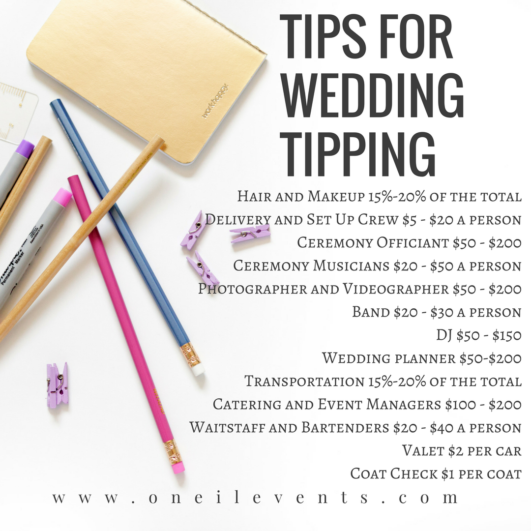 Tips from a wedding planner tipping wedding vendors wedding tips from a wedding planner tipping wedding vendors junglespirit Image collections