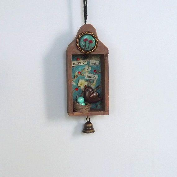 Inspirational Art Decor Miniature Shadowbox by PitterPatterPolymer, $23.00