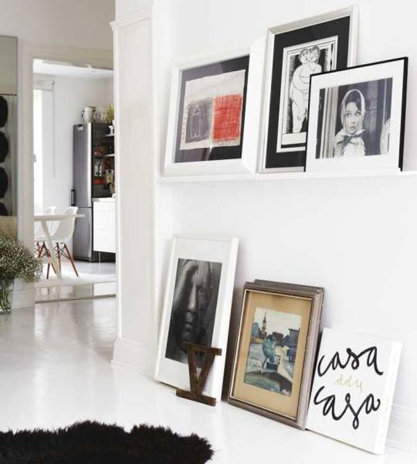 White room with art