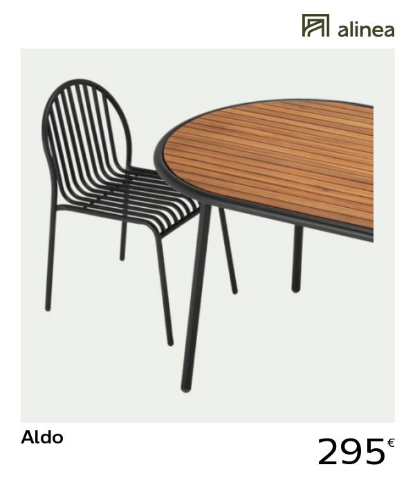 Alinea Decoration Aldo Table De Jardin En Acacia Fsc Et Metal 4 A 6 Places Chaise De Jardin Table De Jardin Acacia