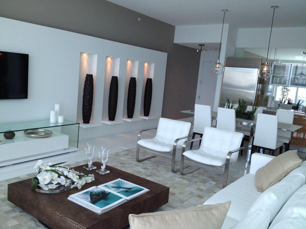 Modern and sleek living room design.   Living Room Ideas ...