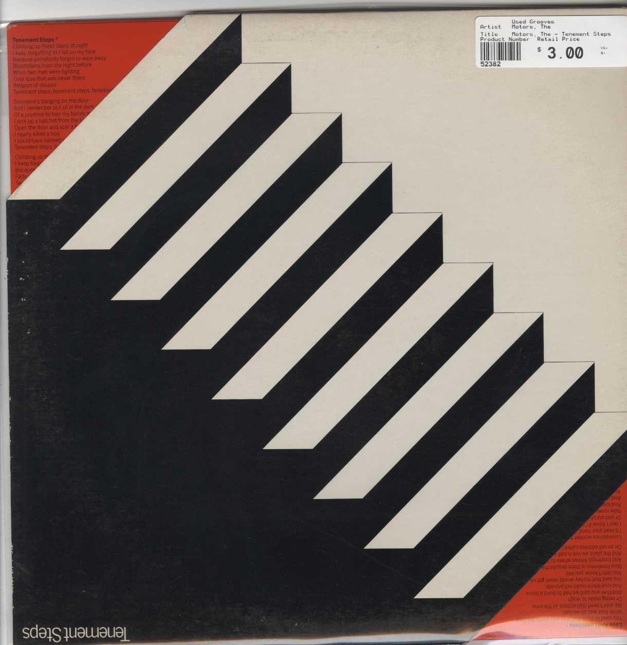 Motors, The - Tenement Steps | Vinyl, Cool things to buy, Lp vinyl