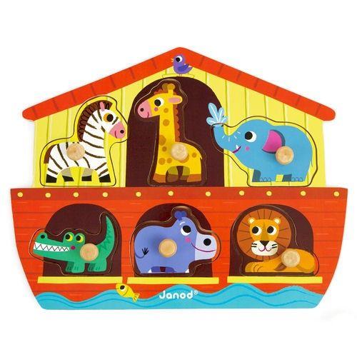 <p>Een mooie houten knoppuzzel van Janod. <br />Geschikt als eerste puzzel voor de allerkleinsten, de knoppen zijn makkelijk vast te houden met6 aansprekende puzzelstukken<br /><br />Geschikt voor kinderen vanaf 18 mnd</p>