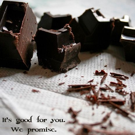 Cocoa beans are vegetables. And vegetables are good for you. Right?