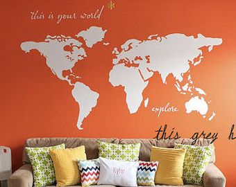 Large world map wall decal this is your world explore 7 ft large world map wall decal this is your world explore 7 sciox Gallery