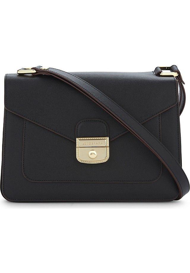 Longchamp Le Pliage Heritage Leather Shoulder Bag Selfridges