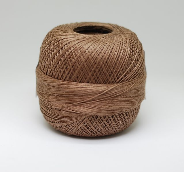 Lithuanian linen yarns 3ply 100g, col  light brown | Beautiful